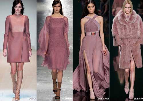 Màu hồng tím thời trang mùa thu 2015