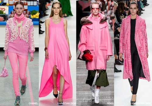 Màu hồng phấn thời trang mùa thu 2015