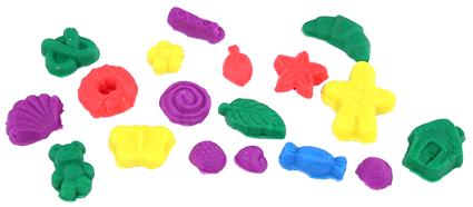 mẫu hình được làm từ khuôn, tiệm bánh vui vẻ, Play-Doh A0318, đất nặn, đất sét nặn