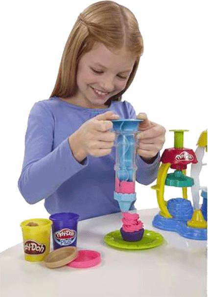 Ống ép bột tạo hoa văn, tiệm bánh vui vẻ, Play-Doh A0318, đất nặn, đất sét nặn