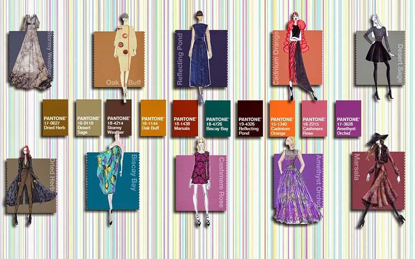 Bảng màu sắc xu hướng thời trang mùa thu 2015