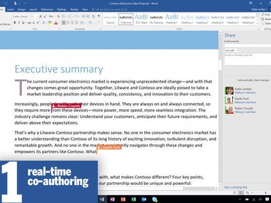 9 điếm mạnh trong Microsoft Office 2016 không nên bỏ lỡ
