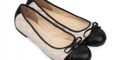 Giày búp bê mũi tròn đính nơ BB01026