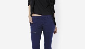 Quần jeans phối dây kéo Zara