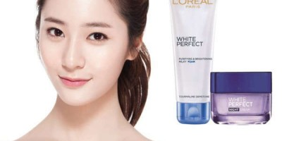Combo Kem Và Sửa Rửa Mặt White Perfect Dewy L'oreal 50ml
