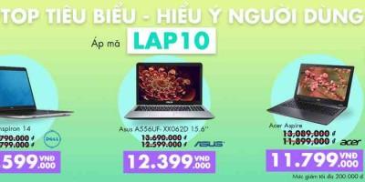 Chương trình khuyến mãi laptop tiêu biểu