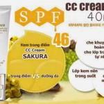 Đánh giá kem trang điểm CC Cream Sakura Flawless Control Base