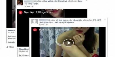 Trục lợi từ video khoe thân qua Facebook Live ở Việt Nam