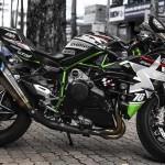 Kawasaki Ninja H2 tiền tỷ độ hầm hố với phong cách xe đua cực ngầu