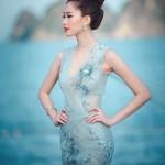 Hoa hậu Đặng Thu Thảo đẹp tựa nữ thần trước biển