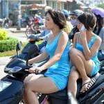 Những hình ảnh bá đạo các kiểu ngồi xe của thiếu nữ Việt