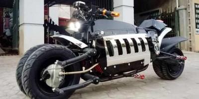 """Xe điện nhái """"siêu xế"""" Tomahawk xuất hiện ở Lạng Sơn"""