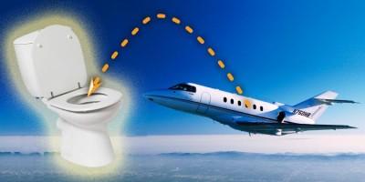 (toilet) bồn cầu trên máy bay.