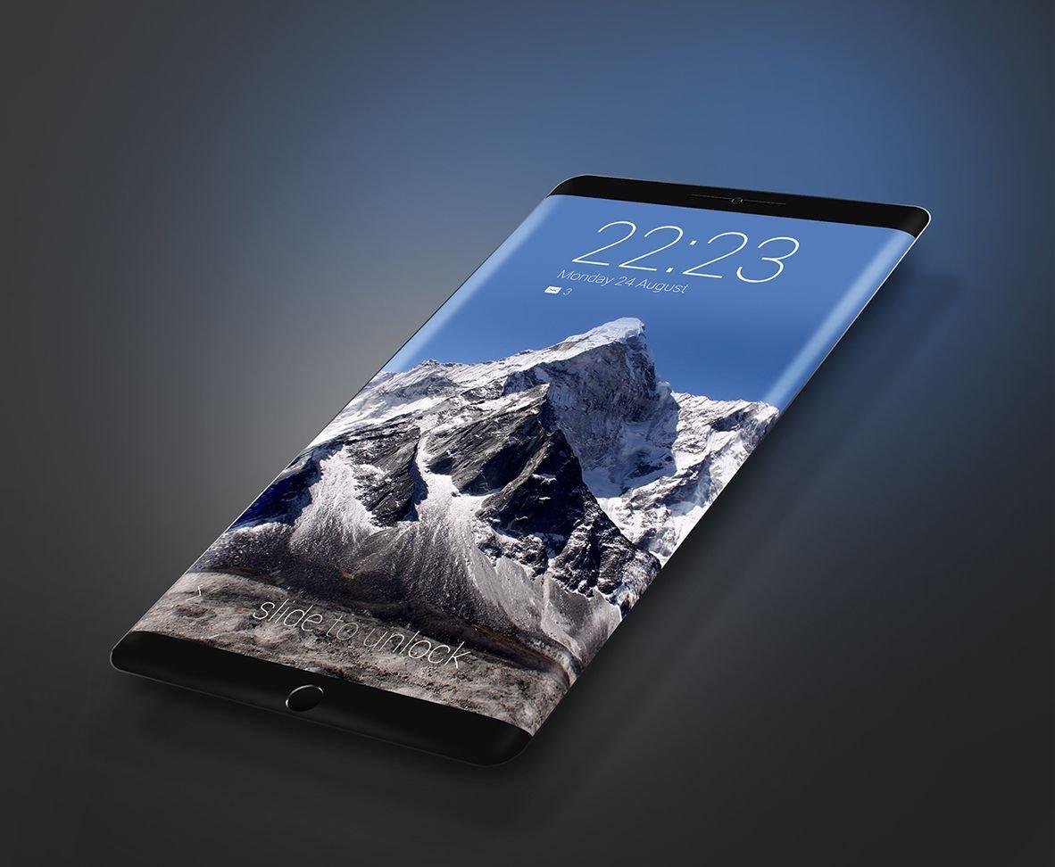 IPhone 8 màn hình cong.