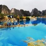 Người dân Hải Phòng đổ xô đi ngắm hồ nước xanh