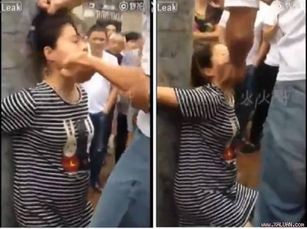 Chồng đánh vợ đang mang thai.